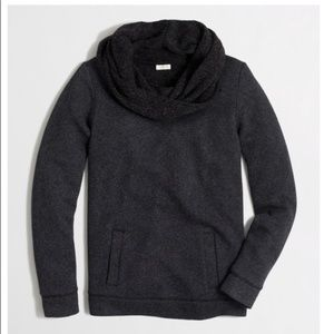 J. Crew Factory Charcoal Cowl Neck Sweatshirt